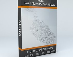 Malta Road Network and Streets 3D model