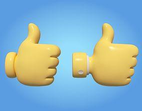 3D model logo Cartoon Like Icon