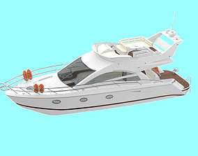 Small Yacht 3D model travel