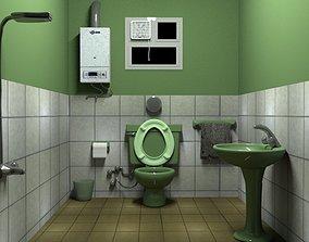 bathroom 3D model VR / AR ready