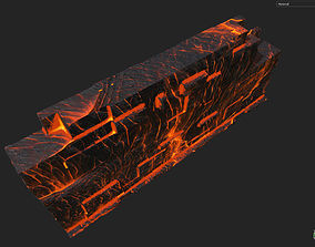 Low poly Lava Temple Block 05 181116 3D asset