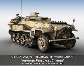 3D model SD KFZ 251 7 - Ausf B - Hanomag Halftruck - 2PD