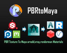 PBRtoMaya2018 PBR Textures to Maya Render 3D