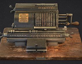 3D asset Old calculator Marchant