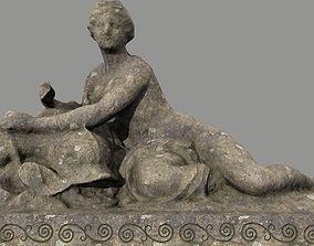 alga 3D model realtime Woman Statue