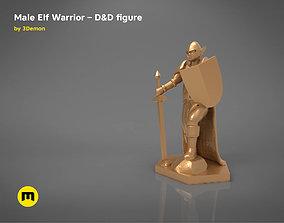 3D print model ELF WARRIOR CHARACTER GAME FIGURE