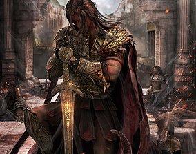 Greek Warrior After Battle 3D asset