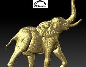 elephant relief 3D printable model