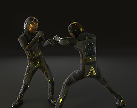 Spacesuit 3d model game-ready fi