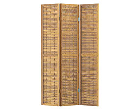 3D model East Haven Bamboo Screen 3 Panel Room Divider