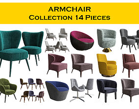 3D Chair Collection 14 pieces