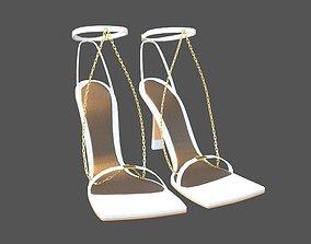 3D asset realtime Square Toe Leather Sandals v2 005