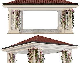 Gazebo landscaping 3D model