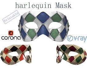 realtime LowPoly - HighPoly 3d print Venetian Harlequin 1
