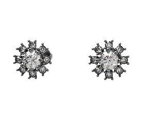 luxury 3D print model Stud A-System Earring gem