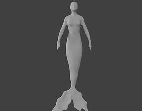 3D model base mermaid