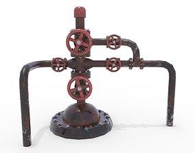3D asset Oil Pumpjack Wellhead Weathered 2