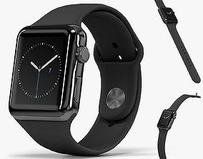 3D Apple Watch Space Black Stainless Steell Case Black 1