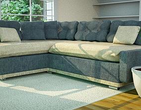 Sofa making on Cinema 4d -Octan render 3D