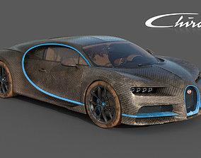 3D model Bugatti Chiron Carbon Fiber