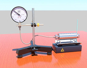 Vapour pressure of water at temperatures 3D asset