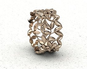 3D printable model ring olive