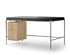 Study desk - Arne Jacobsen society table 3D