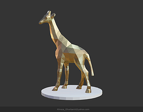 nature 3D asset low-poly Giraffe
