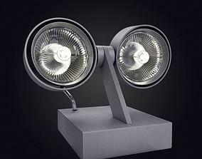 3D model Bi Directional Lamp