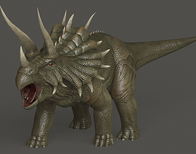animated Triceratops 3D model