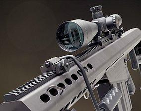 3D model Barrett M82A1 sniper rifle