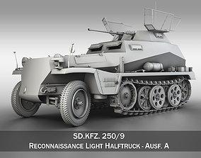 3D model SD KFZ 250 9 - Reconnaissance Half-Truck