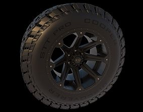 3D Off Road Truck Tire and Wheel