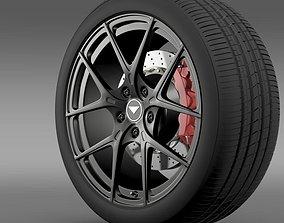 Porsche 991 V GT 2014 wheel 3D model