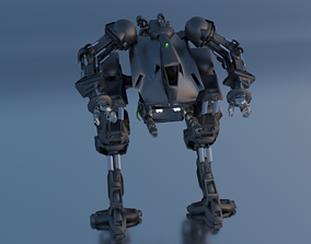 Detailed high quality robot 3D body