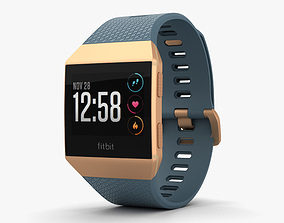 Fitbit Ionic Burnt Orange 3D model