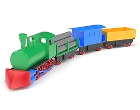 3D model plastic Plastic toy train