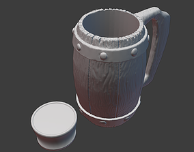 3D print model Beer Mug for 16oz can
