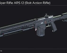 3D model Scifi Sniper Rifle ARS 12