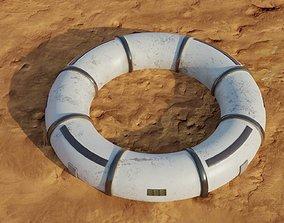 3D asset Mars module and landscape