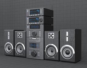 HI-FI mini audio components 3D asset
