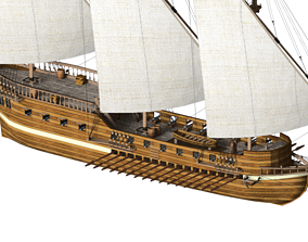 3D Galley Ship