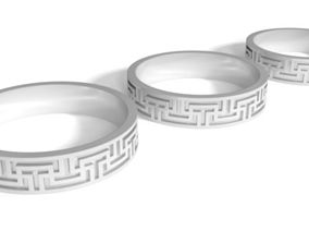 MEANDR ORNAMENT RING PACK ART 006 3D print model