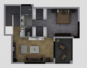 bedroom Floor plan 3D model