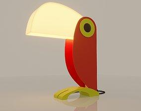 3D model Toucan Lamp by Oldtimer Ferrari 1960s