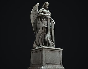 3D model Archangel Statue PBR