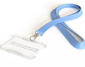 Badge Holder with Lanyard 3D model