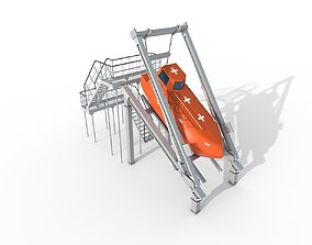 3D model FREE-FALL LIFEBOAT