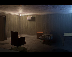 3D model low-poly Old Dirty Room