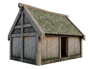 hut Medieval House 3D model low-poly